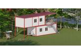 Ege-711 Verandalı İki Katlı Konteyner Ev